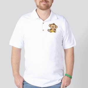 Cute Cartoon Monkey Golf Shirt