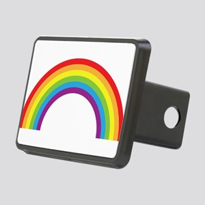 Cool retro graphic rainbow design Rectangular Hitc