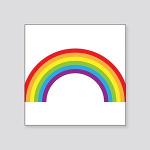 Cool retro graphic rainbow design Square Sticker 3