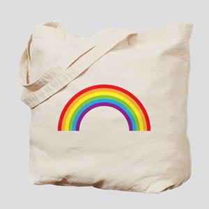 Cool retro graphic rainbow design Tote Bag