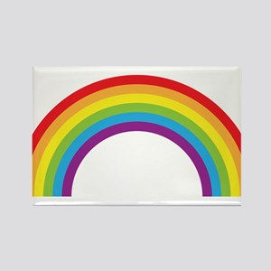 Cool retro graphic rainbow design Rectangle Magnet