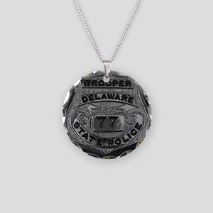 Delaware State Police badge Necklace Circle Charm