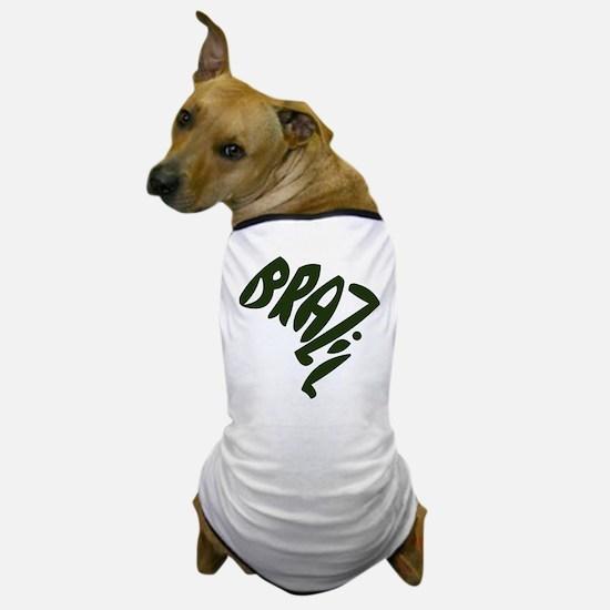 Brazil Text-o-Map Dog T-Shirt