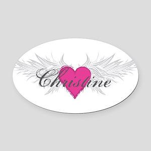 My Sweet Angel Christine Oval Car Magnet