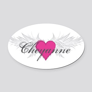 My Sweet Angel Cheyanne Oval Car Magnet