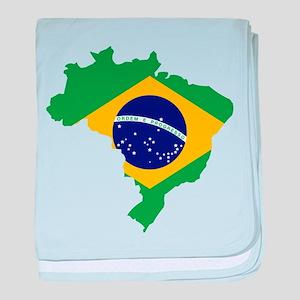 Brasil Flag Map baby blanket