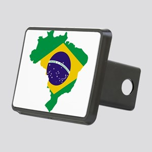 Brasil Flag Map Rectangular Hitch Cover
