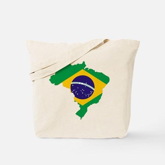 Brasil Flag Map Tote Bag