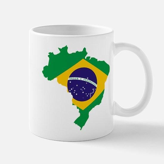 Brasil Flag Map Mug