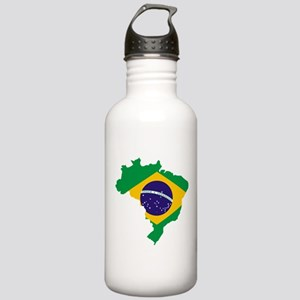 Brasil Flag Map Stainless Water Bottle 1.0L