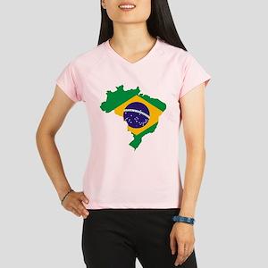 c08bf6b62 Brazil Flag Women's Performance Dry T-Shirts - CafePress