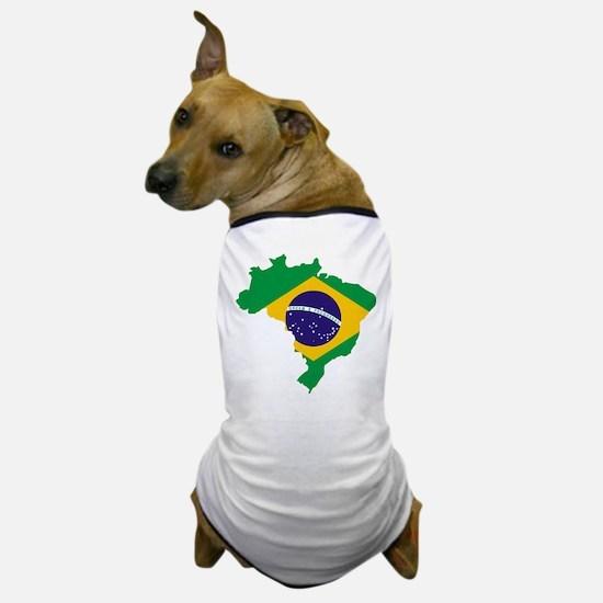 Brasil Flag Map Dog T-Shirt
