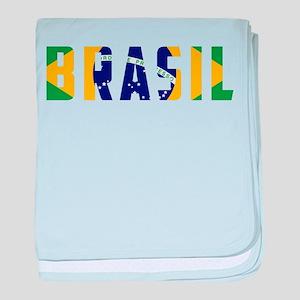 Brasil-Brazil Flag baby blanket