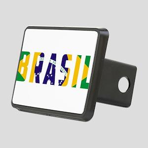 Brasil-Brazil Flag Rectangular Hitch Cover