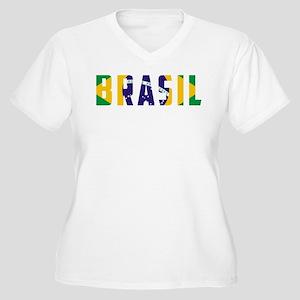 cf527eb7fcc Brazil Flag Women s Plus Size T-Shirts - CafePress