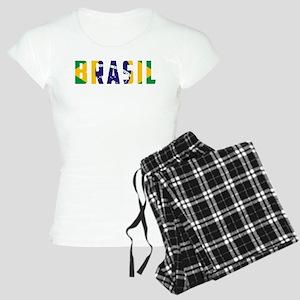 Brasil-Brazil Flag Women's Light Pajamas