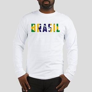 Brasil-Brazil Flag Long Sleeve T-Shirt