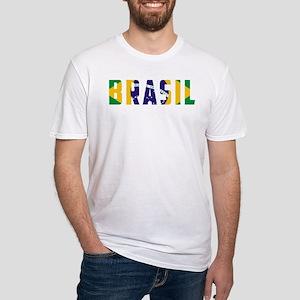 Brasil-Brazil Flag Fitted T-Shirt
