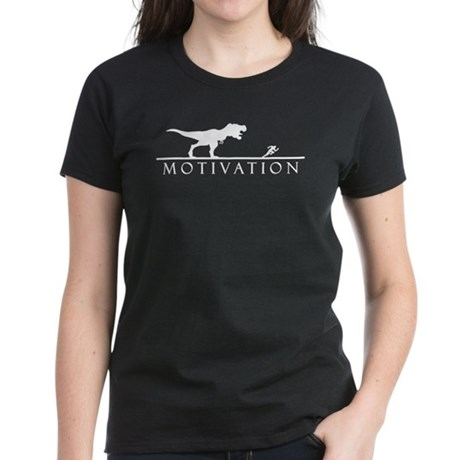 T Rex motivational Women's Dark T-Shirt