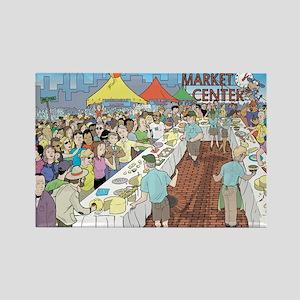 Market Festival Rectangle Magnet