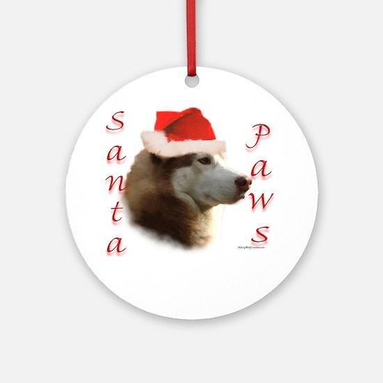 Santa Paws Sibe Ornament (Round)