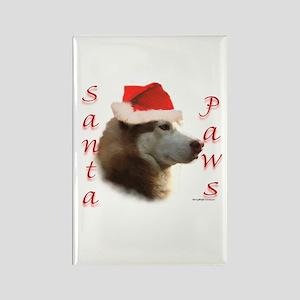 Santa Paws Sibe Rectangle Magnet