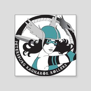 "Petersburg Ragnarok Rollers Square Sticker 3"" x 3"""