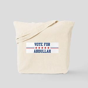 Vote for ABDULLAH Tote Bag