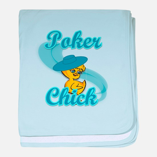Poker Chick #3 baby blanket