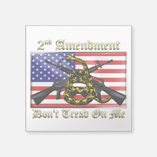 "2nd Amendment Square Sticker 3"" x 3"""