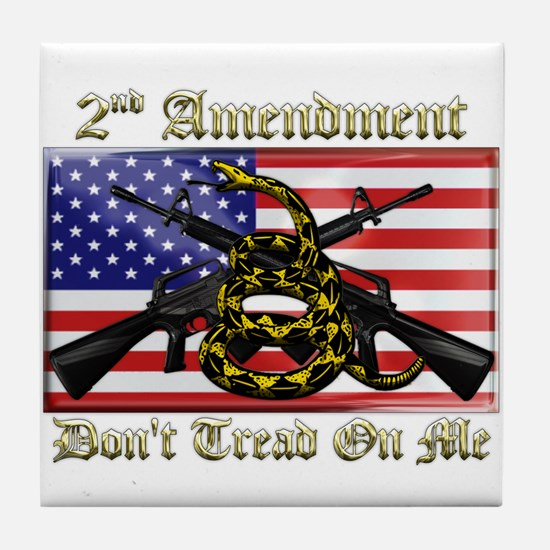 2nd Amendment Tile Coaster
