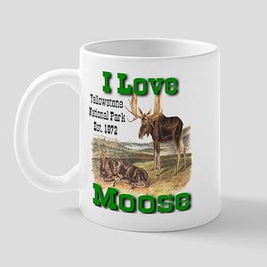 I Love Moose YNP Mug