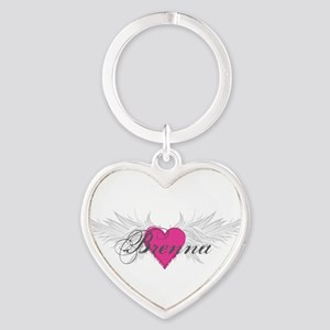 My Sweet Angel Brenna Heart Keychain