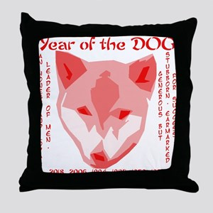 2006 - year of the dog Throw Pillow