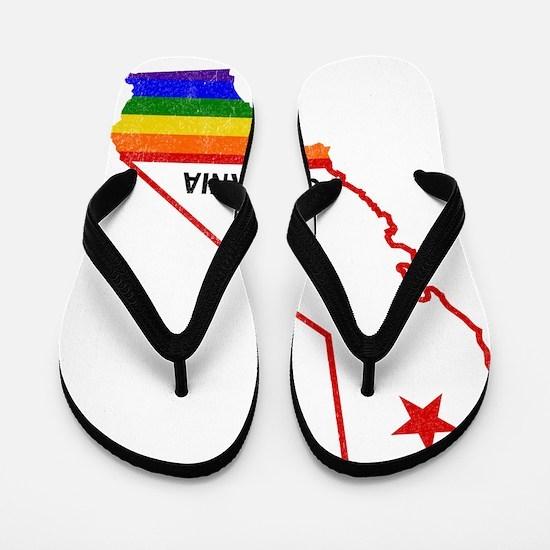 Funny California republic Flip Flops