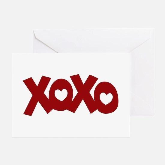 Hugs Kisses Hearts Greeting Card