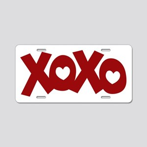 Hugs Kisses Hearts Aluminum License Plate