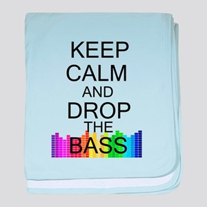 Keep Calm and Drop The Bass baby blanket