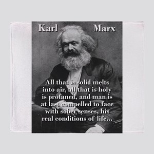 All That Is Solid - Karl Marx Throw Blanket