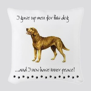 Giving Up Men for Dogs Woven Throw Pillow