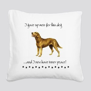Giving Up Men for Dogs Square Canvas Pillow