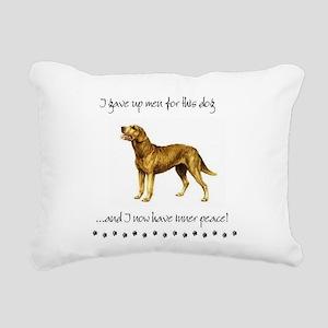 Giving Up Men for Dogs Rectangular Canvas Pillow