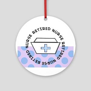 retired nurse I Ornament (Round)