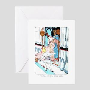 Oz Dorothy and Glinda Greeting Card