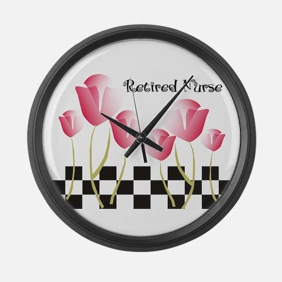 Retired Nurse A Large Wall Clock