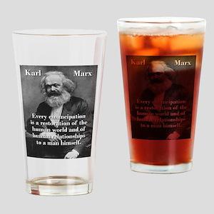 Every Emancipation - Karl Marx Drinking Glass