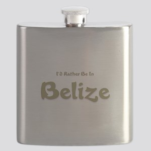 Id Rather Be...Belize Flask