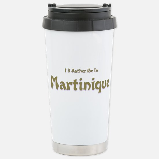 Id Rather Be...Martinique.png Stainless Steel Trav