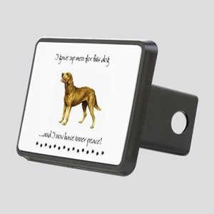 Giving Up Men for Dogs Rectangular Hitch Cover