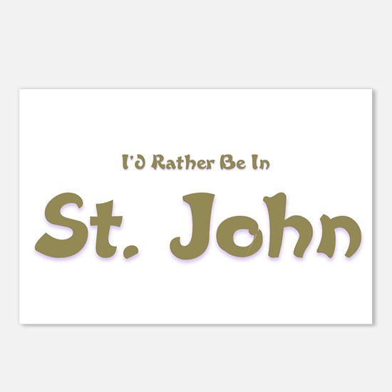 Id Rather Be...St. John.png Postcards (Package of